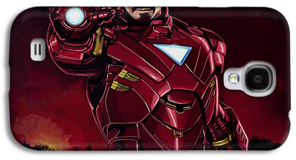 Armor Galaxy S4 Cases - Robert Downey Jr. as Iron Man Galaxy S4 Case by Paul  Meijering