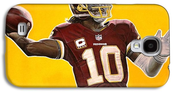 Nike Paintings Galaxy S4 Cases - Robert Griffin III Galaxy S4 Case by Anthony Young
