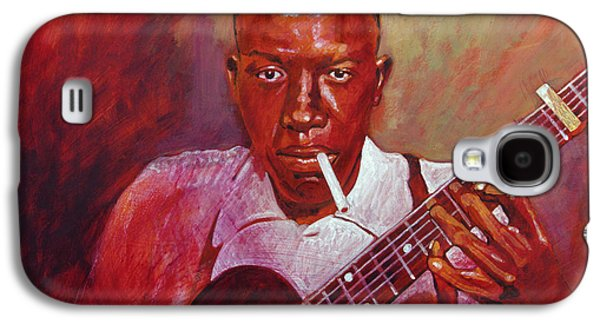 Robert Johnson Photo Booth Portrait Galaxy S4 Case by David Lloyd Glover