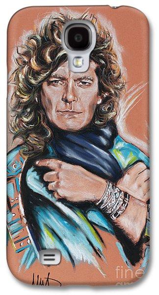 Rocks Drawings Galaxy S4 Cases - Robert Plant Galaxy S4 Case by Melanie D