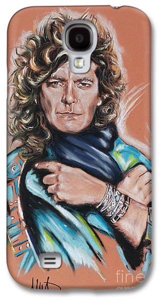 Rocks Drawings Galaxy S4 Cases - Robert Plant Galaxy S4 Case by Melanie D