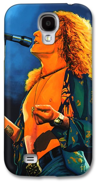 Heavens Paintings Galaxy S4 Cases - Robert Plant Galaxy S4 Case by Paul  Meijering
