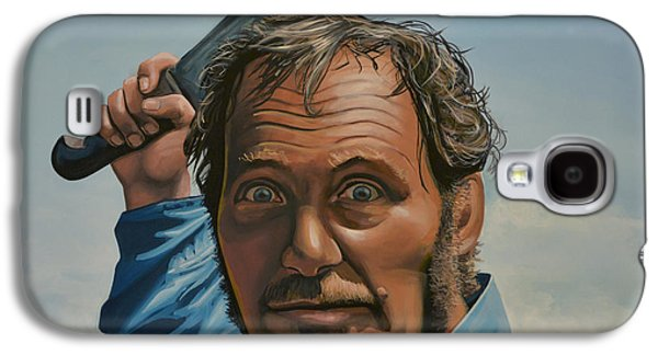 Realistic Art Paintings Galaxy S4 Cases - Robert Shaw in Jaws Galaxy S4 Case by Paul  Meijering