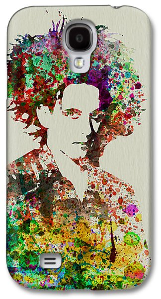 British Celebrities Galaxy S4 Cases - Robert Smith Cure 2 Galaxy S4 Case by Naxart Studio