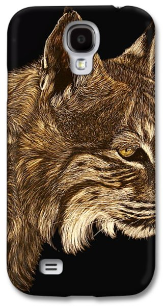 Bobcats Drawings Galaxy S4 Cases - Roberta Galaxy S4 Case by Heather Ward