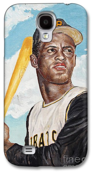 Baseball Glove Paintings Galaxy S4 Cases - Roberto Clemente Galaxy S4 Case by Philip Lee