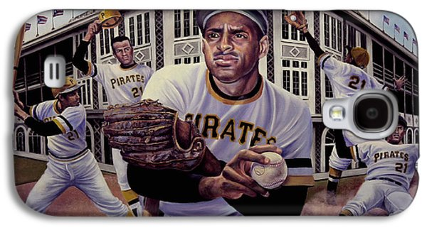Roberto Clemente Paintings Galaxy S4 Cases - Roberto Galaxy S4 Case by Frederick Carrow