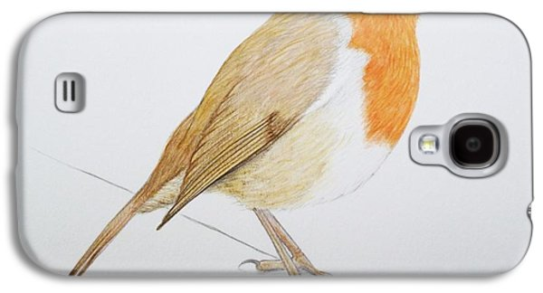 Feather Drawings Galaxy S4 Cases - Robin Galaxy S4 Case by Ele Grafton