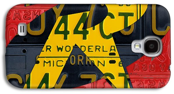 Fictional Galaxy S4 Cases - Robin Superhero Symbol Logo Recycled License Plate Art Galaxy S4 Case by Design Turnpike