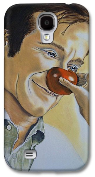 Adam Pastels Galaxy S4 Cases - Robin Williams Galaxy S4 Case by Kevin Hubbard