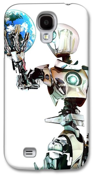 Robot Lamenting Earth Galaxy S4 Case by Animate4.com/science Photo Libary
