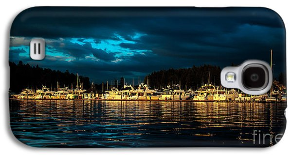 Haybale Galaxy S4 Cases - Roche Harbor  at Sunset Galaxy S4 Case by Robert Bales