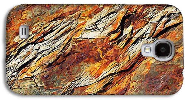 Photo Manipulation Galaxy S4 Cases - Rock Art 7 Galaxy S4 Case by Bill Caldwell -        ABeautifulSky Photography