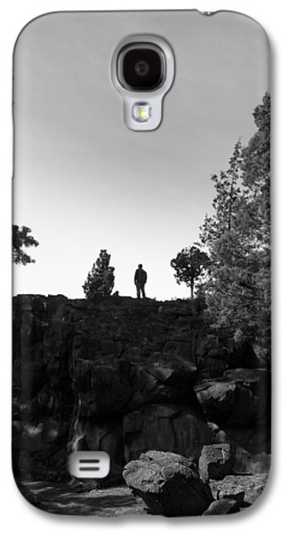 Person Galaxy S4 Cases - Rock Exploration Deschutes Forest Galaxy S4 Case by Joshua Rainey