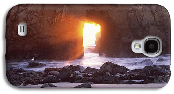 Big Sur Beach Galaxy S4 Cases - Rock Formation On The Beach, Pfeiffer Galaxy S4 Case by Panoramic Images