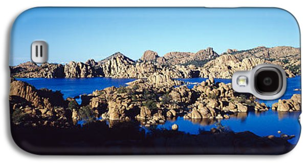 Prescott Photographs Galaxy S4 Cases - Rock Formations At Lake, Granite Dells Galaxy S4 Case by Panoramic Images