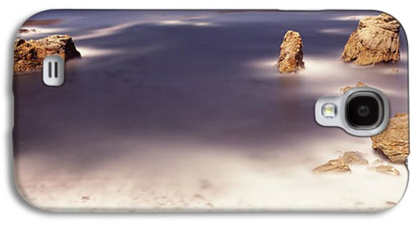Big Sur California Galaxy S4 Cases - Rock Formations At The Coast, Moonlight Galaxy S4 Case by Panoramic Images