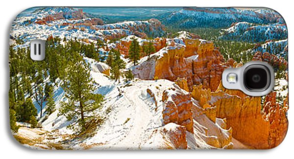 Garden Scene Galaxy S4 Cases - Rock Formations In A Canyon, Bryce Galaxy S4 Case by Panoramic Images