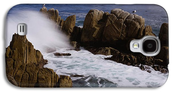 Beach Photography Galaxy S4 Cases - Rock Formations In Water, Pebble Beach Galaxy S4 Case by Panoramic Images