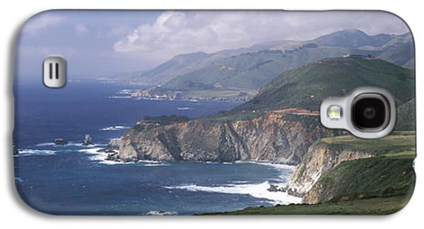 Bixby Bridge Galaxy S4 Cases - Rock Formations On The Beach, Bixby Galaxy S4 Case by Panoramic Images