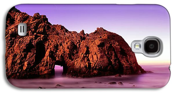 Beach Photography Galaxy S4 Cases - Rock Formations On The Beach, Pfeiffer Galaxy S4 Case by Panoramic Images