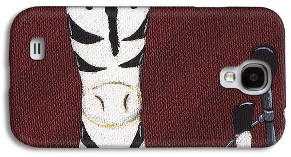 Rock N Roll Paintings Galaxy S4 Cases - Rock n Roll Zebra Galaxy S4 Case by Christy Beckwith