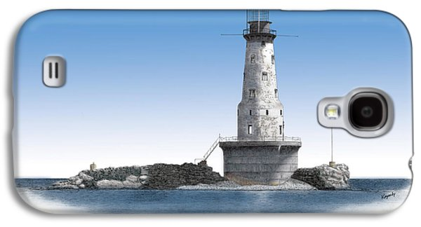 Rock Of Ages Lighthouse Titled Galaxy S4 Case by Darren Kopecky