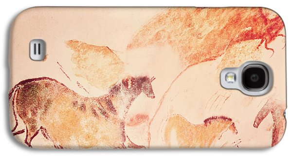 Movement Galaxy S4 Cases - Rock Painting Of Horses, C.17000 Bc Cave Painting Galaxy S4 Case by Prehistoric
