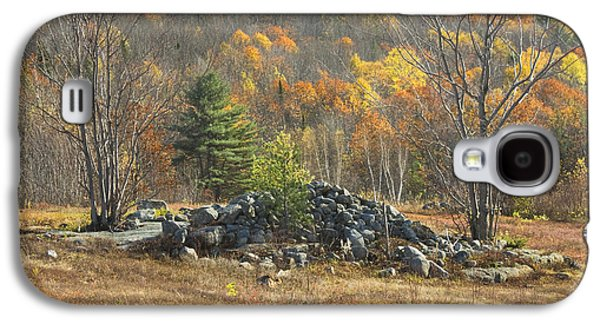 Maine Farms Galaxy S4 Cases - Rock Pile In Maine Blueberry Field Galaxy S4 Case by Keith Webber Jr
