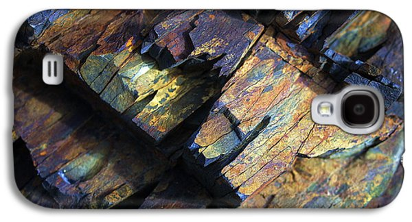 Nature Abstract Galaxy S4 Cases - Rock Texture 2 Galaxy S4 Case by Bill Caldwell -        ABeautifulSky Photography
