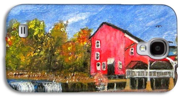 Grist Mill Paintings Galaxy S4 Cases - Rockbridge Grist Mill Galaxy S4 Case by John Burch