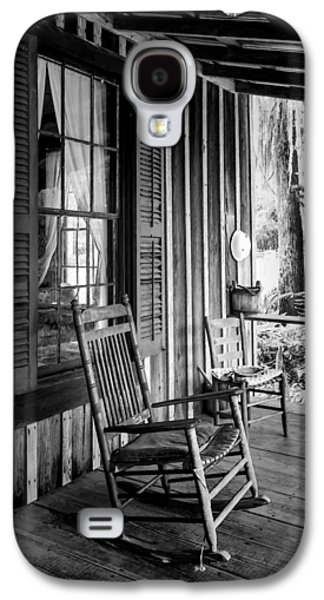 Ladder Back Chairs Galaxy S4 Cases - Rocker on the Veranda Galaxy S4 Case by Lynn Palmer