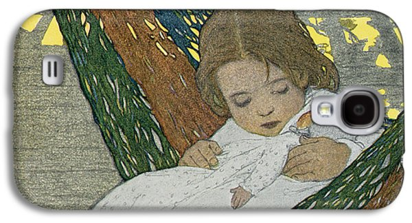 Lounge Drawings Galaxy S4 Cases - Rocking Baby Doll To Sleep Galaxy S4 Case by Jessie Willcox Smith