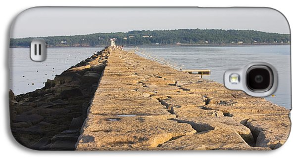 Maine Lighthouses Galaxy S4 Cases - Rockland Breakwater Lighthouse Coast of Maine Galaxy S4 Case by Keith Webber Jr