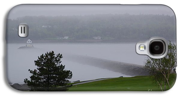 Midcoast Galaxy S4 Cases - Rockland Breakwater Lighthouse Fog Is Rolling In Galaxy S4 Case by Trish Hebendahl