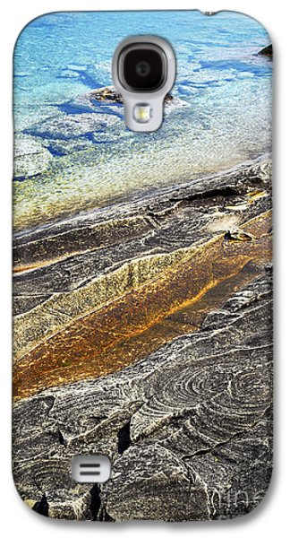 Abstract Landscape Galaxy S4 Cases - Rocks and clear water abstract Galaxy S4 Case by Elena Elisseeva