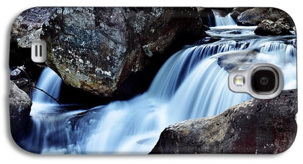 Nature Scene Digital Art Galaxy S4 Cases - Rocks and Waterfall Galaxy S4 Case by Adam LeCroy