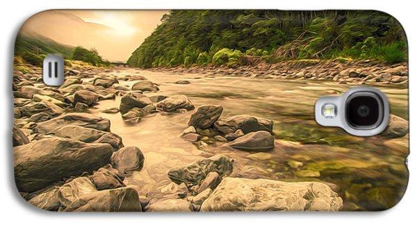 Aotearoa Galaxy S4 Cases - Rocks in creek Galaxy S4 Case by Lanjee Chee
