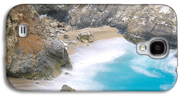 Big Sur California Galaxy S4 Cases - Rocks On The Beach, Mcway Falls, Julia Galaxy S4 Case by Panoramic Images