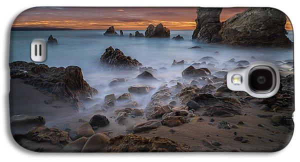 Rocky California Beach Galaxy S4 Case by Larry Marshall