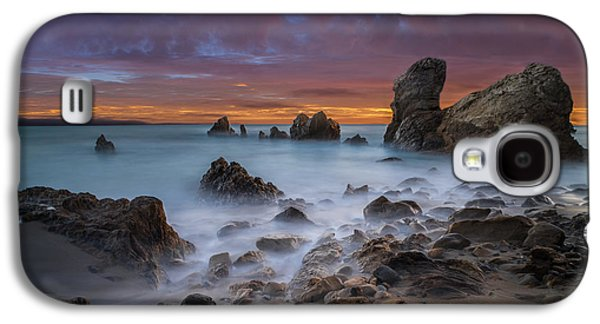 Rocky California Beach - Square Galaxy S4 Case by Larry Marshall