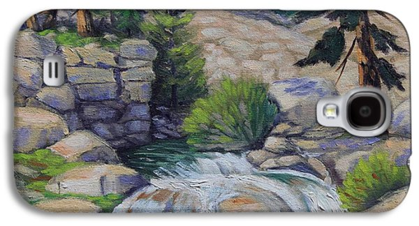 Sonora Paintings Galaxy S4 Cases - Rocky Falls of Sonora Pass Galaxy S4 Case by Cheryl Bloomfield
