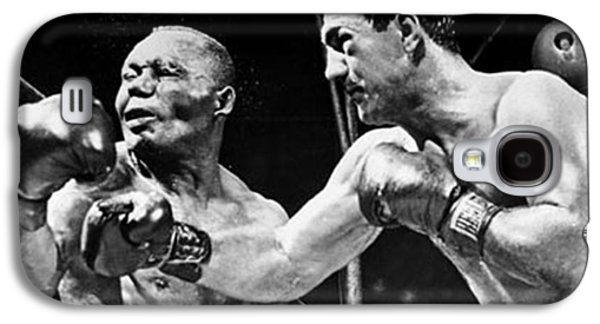 Recently Sold -  - Boxer Digital Galaxy S4 Cases - Rocky Marciano vs Jersey Joe Walcott Galaxy S4 Case by Anthony Morretta