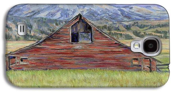 Original Art Pastels Galaxy S4 Cases - Rocky Mountain Barn Galaxy S4 Case by Billie Colson