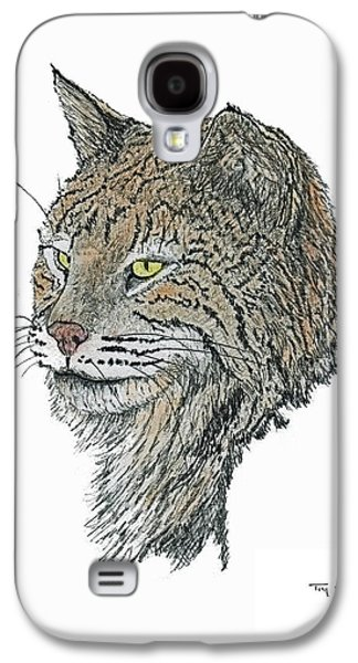 Bobcats Drawings Galaxy S4 Cases - Rocky Mountain Bob Galaxy S4 Case by Tim Shoales