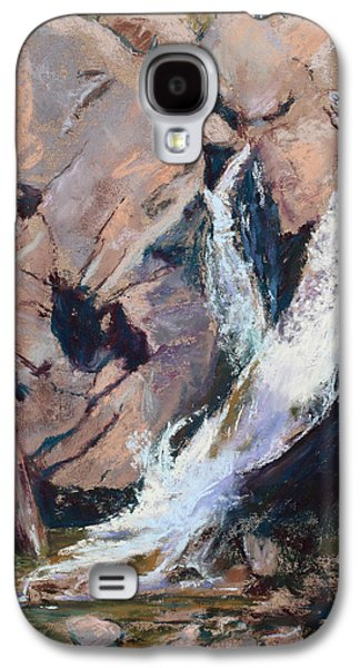 Park Scene Pastels Galaxy S4 Cases - Rocky Mountain Cascade Galaxy S4 Case by Mary Benke