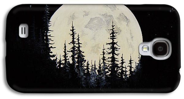 Recently Sold -  - Bob Ross Paintings Galaxy S4 Cases - Rocky Mountain Moon Galaxy S4 Case by C Steele