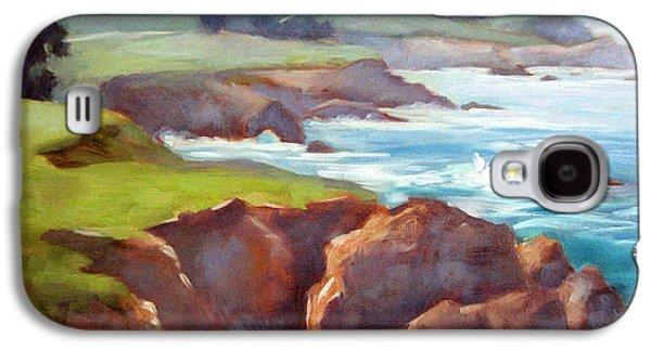 Bixby Bridge Galaxy S4 Cases - Rocky Point Afternoon Big Sur Galaxy S4 Case by Karin  Leonard