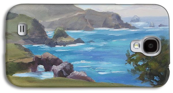 Bixby Bridge Galaxy S4 Cases - Rocky Point Big Sur Galaxy S4 Case by Karin  Leonard