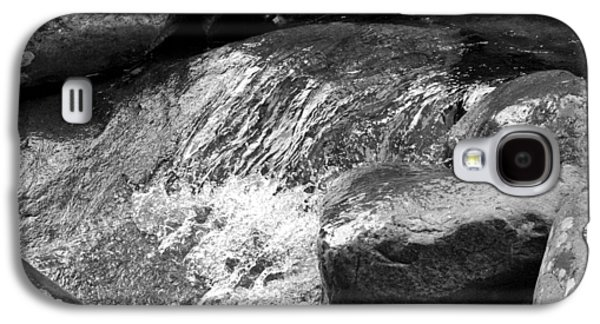 Contemplative Photographs Galaxy S4 Cases - Rocky Waters BW Galaxy S4 Case by Christi Kraft